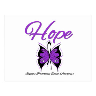 Pancreatic Cancer Hope Butterfly Ribbon Post Card