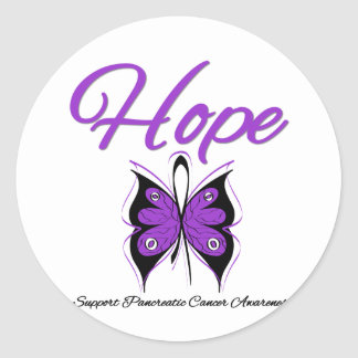 Pancreatic Cancer Hope Butterfly Ribbon Sticker