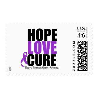 Pancreatic Cancer Hope Love Cure Postage Stamps