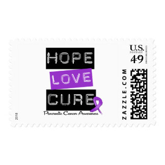Pancreatic Cancer Hope Love Cure Postage Stamp