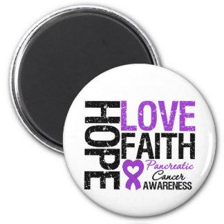 Pancreatic Cancer Hope Love Faith Fridge Magnet