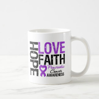 Pancreatic Cancer Hope Love Faith Classic White Coffee Mug