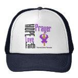 Pancreatic cancer Hope Love Faith Prayer Cross Trucker Hat