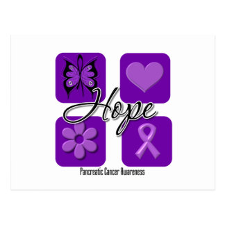 Pancreatic Cancer Hope Love Inspire Awareness Postcards