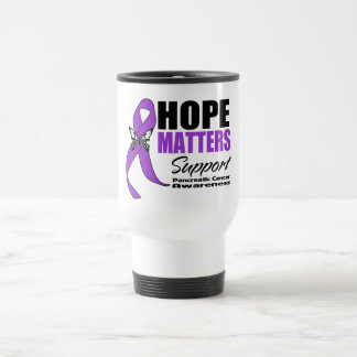 Pancreatic Cancer Hope Matters 15 Oz Stainless Steel Travel Mug