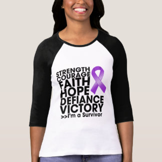 Pancreatic Cancer Hope Strength Victory T Shirts