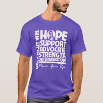 Pancreatic Cancer Hope Support Strength T-Shirt