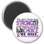 Pancreatic Cancer How Strong We Are 2 Inch Round Magnet
