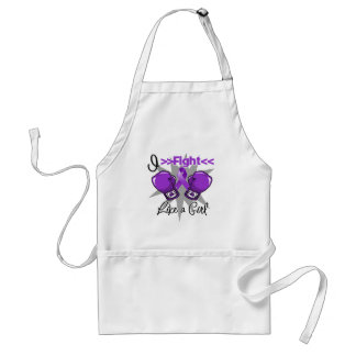 Pancreatic Cancer I Fight Like a Girl With Gloves Adult Apron