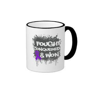 Pancreatic Cancer  I Fought Conquered Won Coffee Mugs