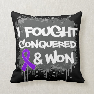 Pancreatic Cancer  I Fought Conquered Won Pillow
