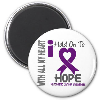 Pancreatic Cancer I Hold On To Hope 2 Inch Round Magnet