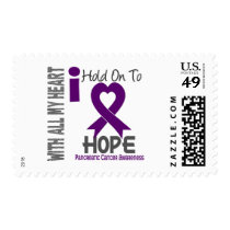 Pancreatic Cancer I Hold On To Hope Postage
