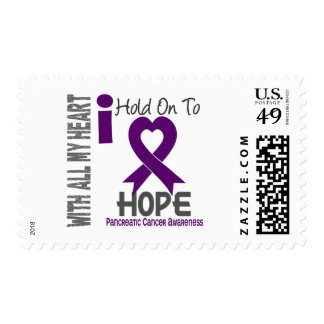 Pancreatic Cancer I Hold On To Hope Postage Stamps