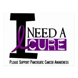 Pancreatic Cancer I NEED A CURE 1 Postcard