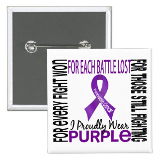 Pancreatic Cancer I Proudly Wear Purple 2 Button