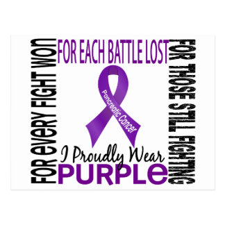 Pancreatic Cancer I Proudly Wear Purple 2 Postcard