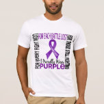 Pancreatic Cancer I Proudly Wear Purple 2 T-Shirt