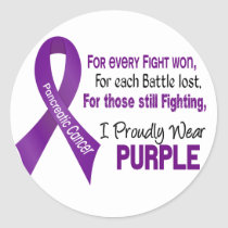 Pancreatic Cancer I Proudly Wear Purple Classic Round Sticker