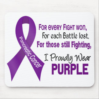 Pancreatic Cancer I Proudly Wear Purple Mouse Pad