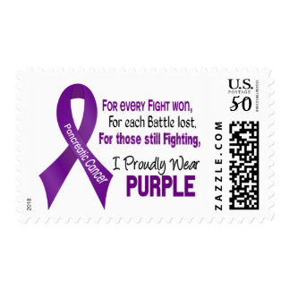 Pancreatic Cancer I Proudly Wear Purple Postage