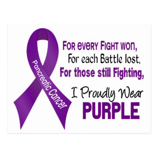 Pancreatic Cancer I Proudly Wear Purple Postcard