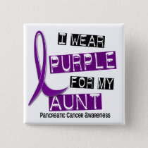 Pancreatic Cancer I WEAR PURPLE 37 Aunt Button