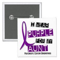 Pancreatic Cancer I WEAR PURPLE 37 Aunt Button