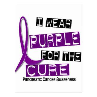 Pancreatic Cancer I WEAR PURPLE 37 Cure Postcard