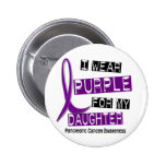 Pancreatic Cancer I WEAR PURPLE 37 Daughter Button