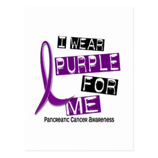 Pancreatic Cancer I WEAR PURPLE 37 Me Postcard