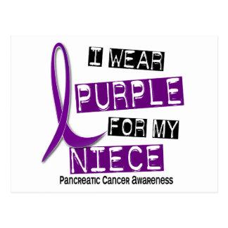 Pancreatic Cancer I WEAR PURPLE 37 Niece Postcard
