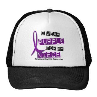Pancreatic Cancer I WEAR PURPLE 37 Niece Trucker Hat