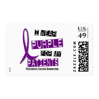 Pancreatic Cancer I WEAR PURPLE 37 Patients Postage Stamp