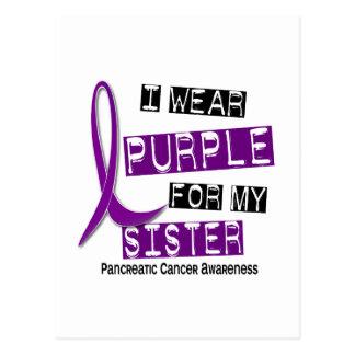 Pancreatic Cancer I WEAR PURPLE 37 Sister Postcard