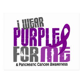Pancreatic Cancer I Wear Purple For Me 6.2 Postcard