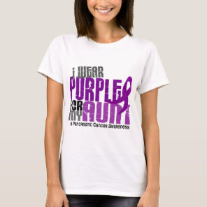 Pancreatic Cancer I Wear Purple For My Aunt 6.2 T-Shirt
