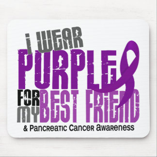 Pancreatic Cancer I Wear Purple For My Best Friend Mouse Pad
