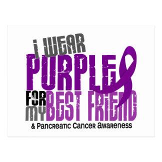 Pancreatic Cancer I Wear Purple For My Best Friend Postcard