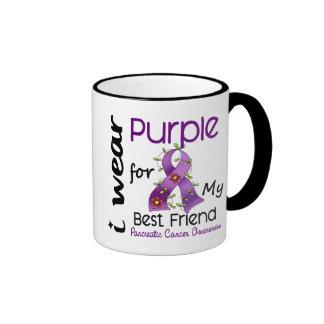 Pancreatic Cancer I Wear Purple For My Best Friend Ringer Mug