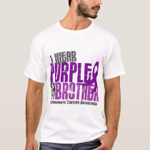 Pancreatic Cancer I Wear Purple For My Brother 6.2 T-Shirt