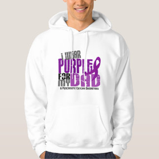 Pancreatic Cancer I Wear Purple For My Dad 6.2 Hooded Sweatshirt