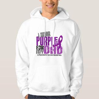 Pancreatic Cancer I Wear Purple For My Dad 6.2 Hoodie