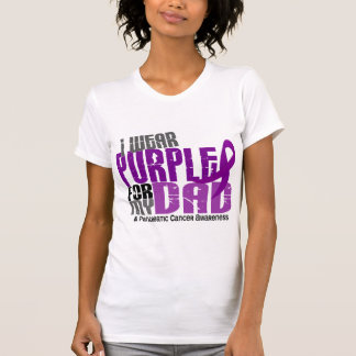 Pancreatic Cancer I Wear Purple For My Dad 6.2 Tee Shirt