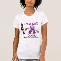 Pancreatic Cancer I Wear Purple For My Daddy 43 T-Shirt