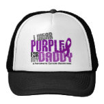 Pancreatic Cancer I Wear Purple For My Daddy 6.2 Mesh Hat