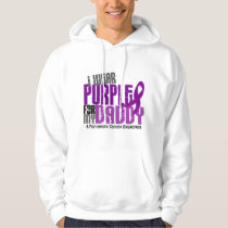Pancreatic Cancer I Wear Purple For My Daddy 6.2 Hoodie