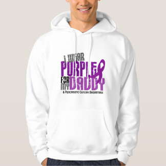 Pancreatic Cancer I Wear Purple For My Daddy 6.2 Hoodie
