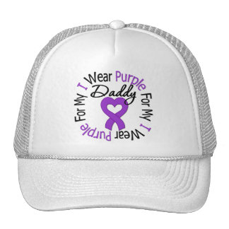 Pancreatic Cancer I Wear Purple For My Daddy Trucker Hat