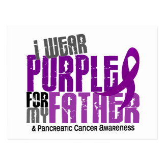 Pancreatic Cancer I Wear Purple For My Father 6.2 Postcard